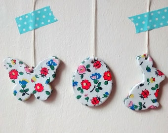 Cath Kidston print Easter decorations
