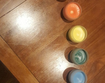 Unscented Sensation Play Candles - set of 4