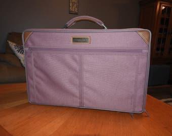 Vintage pink luggage | Etsy