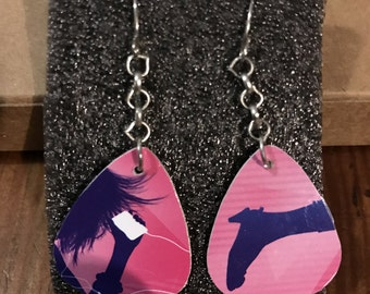 Recycle Guitar Pick Earrings