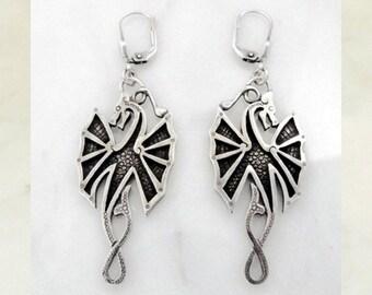 """Silver earrings """"Lucky Dragon"""""""