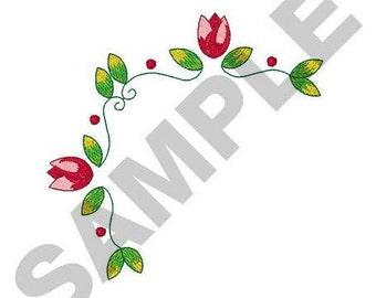 Tulip Corner- Machine Embroidery Design