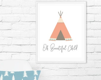 Boho Nursery Print, Nursery Decor,  Nursery Prints, Nursery Decor Girl, Baby Shower, Boho Nursery Art,  Nursery Prints Girl, Boho Nursery