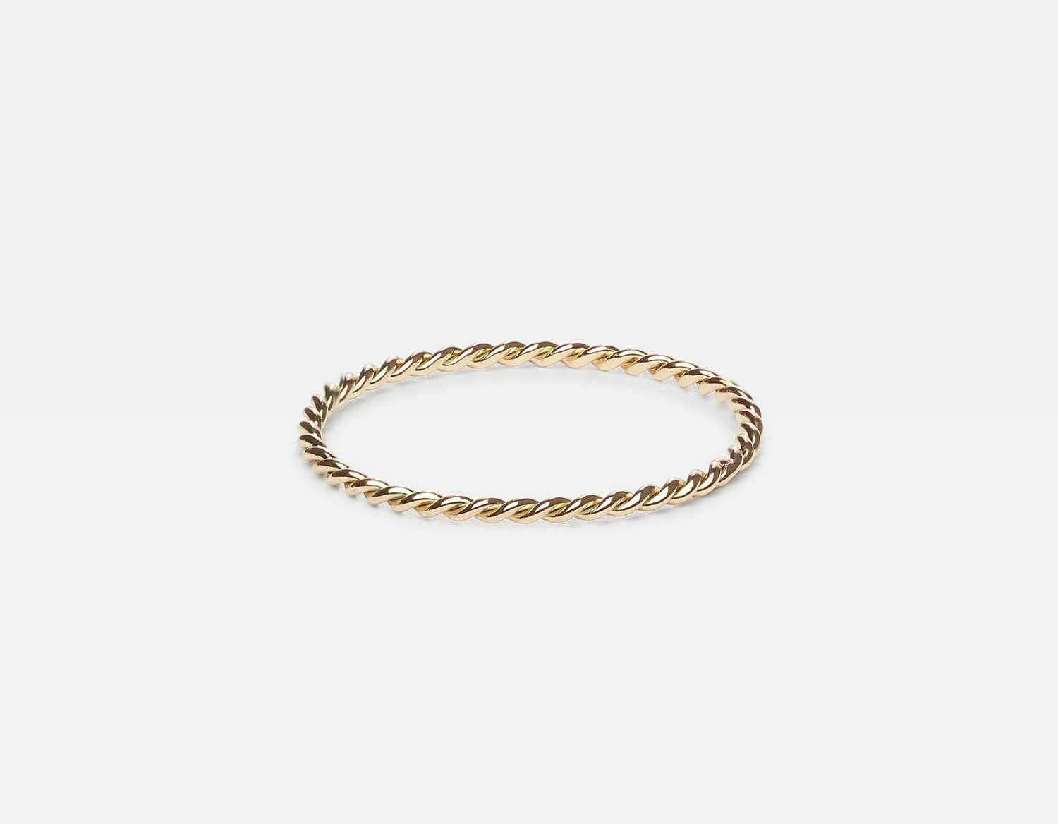 Twist Ring/ Twisted Wedding Band/ 14k Solid Gold Twist Ring/ Twisted Wedding Band/ Twist Stacking Ring/ 1.0mm Wedding Ring