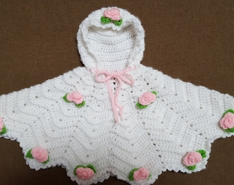 Infant Rose Poncho