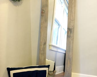 Rustic full length floor mirror