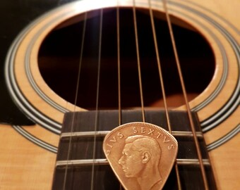 1950 South African coin plectrum