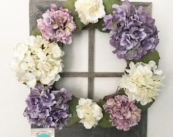Hydrangea Wreath ~ Spring ~ Floral