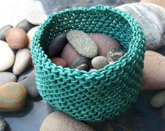 Turquoise Treasure Keeper, Basket.