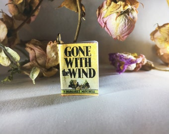 Gone With The Wind- Miniature Book Charm Necklace