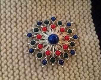 Sarah Coventry Brooch - Vintage Jewelry Carnival Starburst Brooch