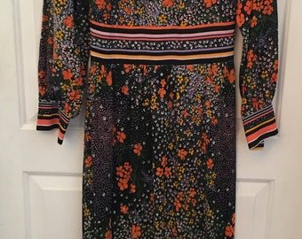 Handmade Vintage 70s Floor Length Dress