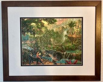 Disney Kinkade Framed/Assembled Puzzle Art - Jungle Book