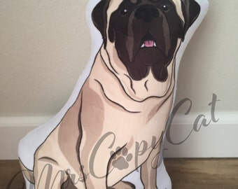 Custom Pet Portrait Plush Toy - Custom Dog Plush Pillow - Your Dog as a Cuddly Plush Pillow - Hand Drawn Dog Portrait - Memorial Dog Gift