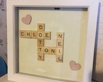 Scrabble Tile Frame