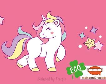 ECO kids trim: Rainbow Unicorn - borders for children, border for allergy sufferers, wall border, nonwoven, wall trims, Unicorn