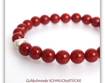 Bracelet - shell Pearl - Red