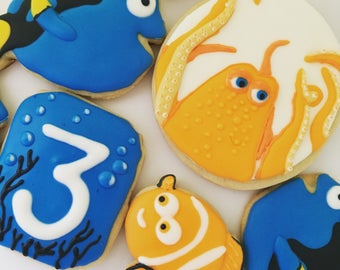 Finding Dory Baby Shower Birthday Kid's Party Cookie Set