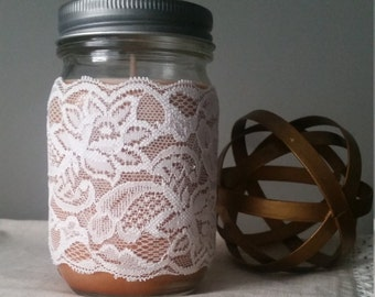 Creme Brulee' soy candle   Mason jar candle   Handpoured 100% soy wax