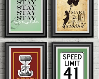 Dave Matthews Band Inspired | Collection Of Four Prints | 11x14 Posters |