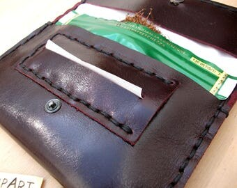 Handmade artisan hand-sewn genuine leather Canapart maps! Bordeaux