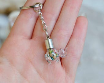 Elephant keychain,Animal keychain, Elephant charm keychain, Baby elephant keychain, Lucky elephant charm