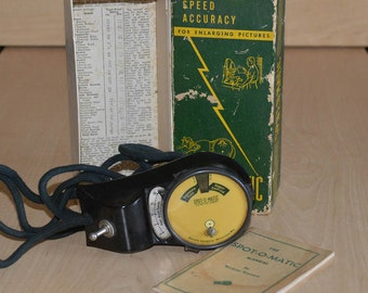 Vintage Spot-O-Matic Enlarging Meter
