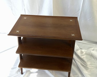 American By Martinsville Vintage Mid Century Modern 3 Tier Table