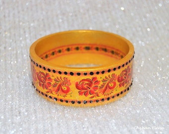 "the wooden bracelet ""Khokhloma"""