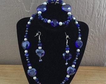 28: Necklace, Bracelet, Earrings Set