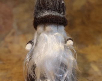 Waldorf inspired needle felt wizard doll -Horace