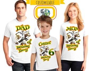 Kung fu panda Birthday Custom shirt for family members, boy birthday gift, boy shirt, birthday boy gift, family matching shirts