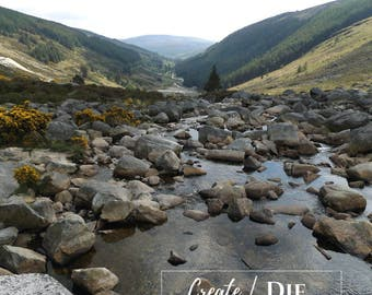 Digital Download - River running through the Wicklow Mountains, Ireland