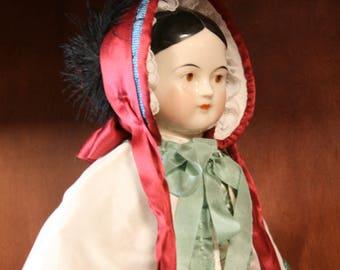 Reproduction 1840s/1850s Doll bonnet