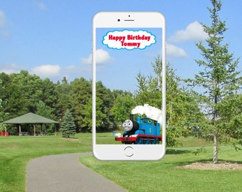 Thomas the Train Snapchat Geofilter