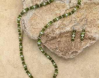 Green Goddess - crystal necklace