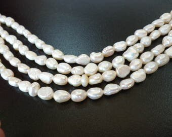 Irregular Ivory River pearls/ PEARLS/ ivory of 4x5x7 mm hole 0/5 mm strand 50 pearls