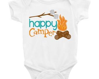 Happy Camper Shirt, Camp Shirt, Camping Shirt,  Campfire Shirt, Camping Outfit, Toddler Kids Girl Boy Baby Camp Shirt Outfit