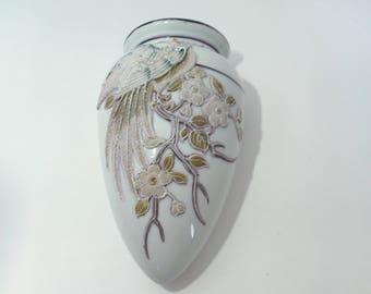 Vintage Oriental Wall Pocket or Vase