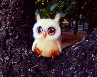 Felt Owl, Needle felted owl, owl figurine, owl decor, customized owl decorative owls realistic owl, wool owl, toys owl, owls, birthday gifts