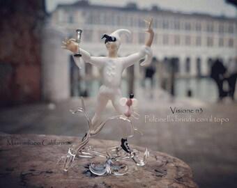 Murano glass figure: Pulcinella