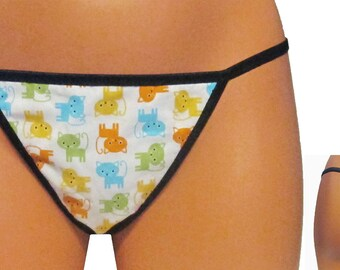 Colorful Cats (2) Thong/G-String