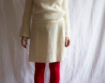 White Wool Skirt