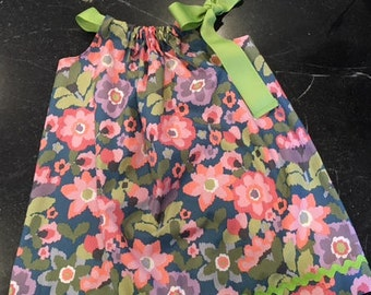 Floral  Pillow Case Dress 3T-4T