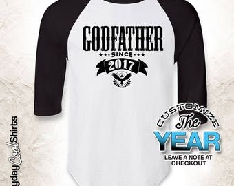 Godfather Since (Any Year), Godfather Gift, Godfather Birthday, Godfather tshirt, Godfather Gift Idea, Baby Shower, Pregnancy