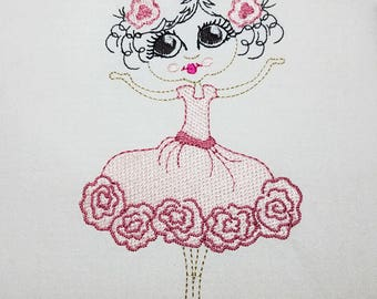 Ballerina - Machine Embroidery Design