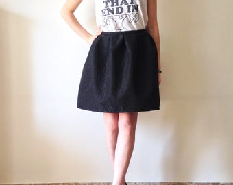 Black pleated skirt / high waist skirt/