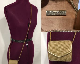 1990's | Small Gold Whiting and Davis purse