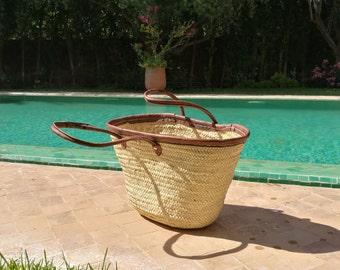 shoulder straw bags ,straw basket,french basket,beach bag,french market bag,moroccan baskets,natural bag,moroccan handmade bag.