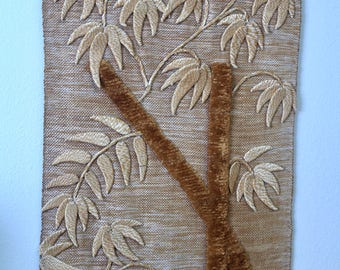 RARE DON FREEDMAN | Large Vintage Wall Art Jute Fiber Textile Hanging Boho '82